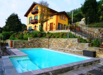 Villa con piscina, parco e vista lago, Ghiffa
