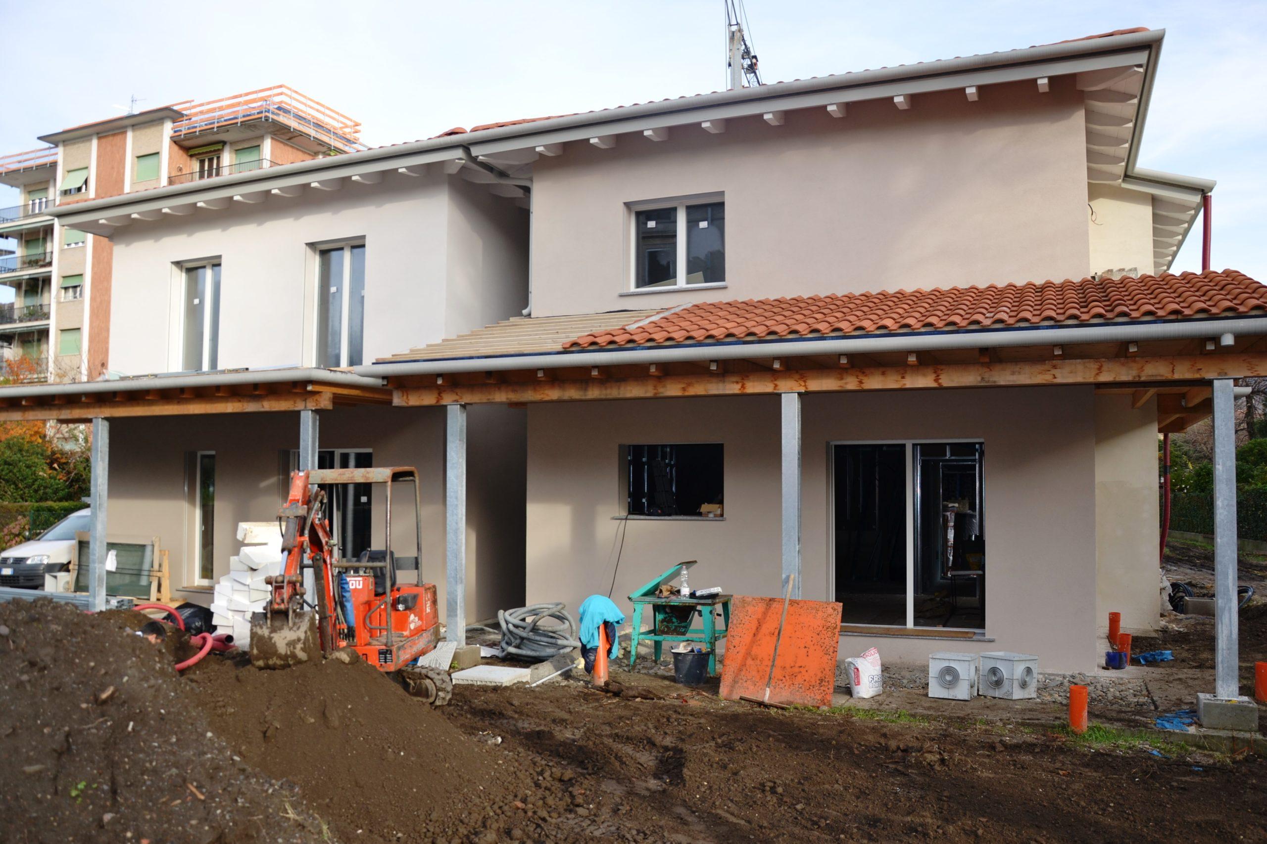 Villa, in costruzione, Pallanza centro